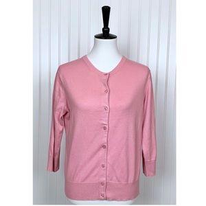 Dressbarn Rose Pink Crew Neck Cardigan, XL